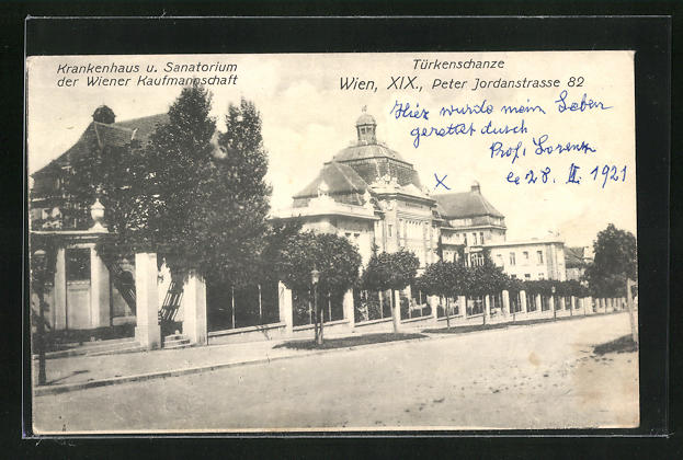 AK Wien, Maria Theresien Platz, Türkenschanze, Peter Jordanstrasse 82, Krankenhaus der Wiener Kaufmannschaft