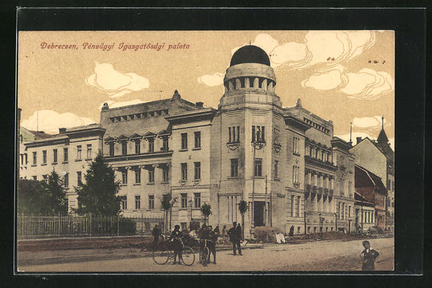 AK Debrecen / Debreczin, Penzügyi Igazgatosägi palota