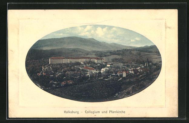 Präge-AK Wien, Kalksburg, Collegium und Pfarrkirche