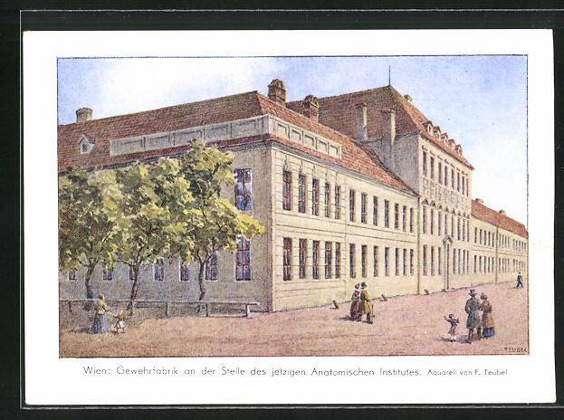 AK Wien, Gewehrfabrik an der Stelle des jetzigen Anatomischen Institutes