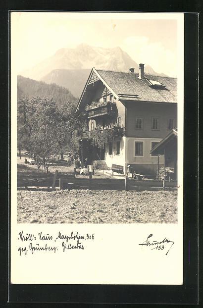 AK Mayrhofen, Blick auf Kröll`s Haus