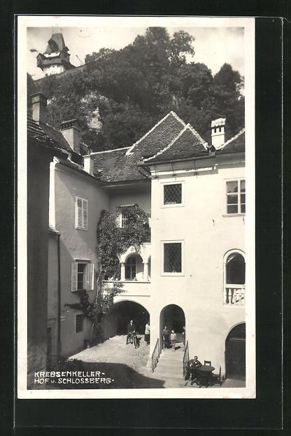 AK Graz, Gasthaus Krebsenkeller, Sackstrasse 12
