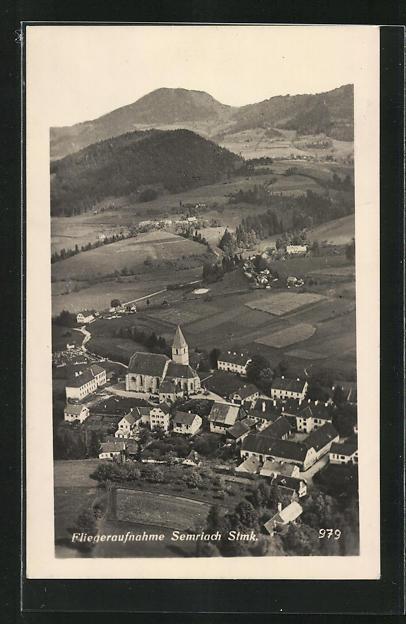 AK Semriach, Fliegeraufnahme vom Dorf