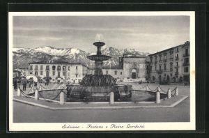 AK Sulmona, Fontana e Piazza Garibaldi