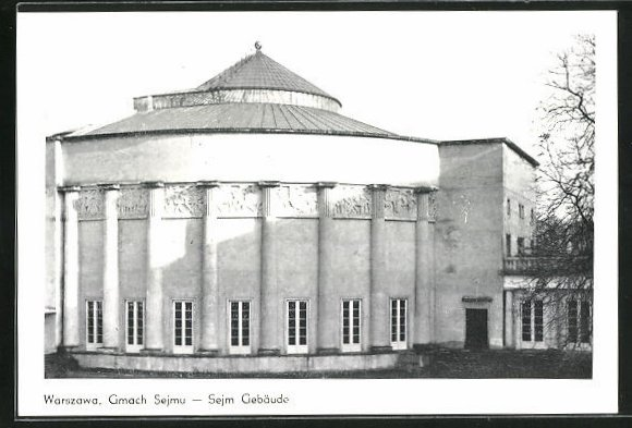 AK Warschau-Warszawa, Gmach Sejmu, Sejm Gebäude