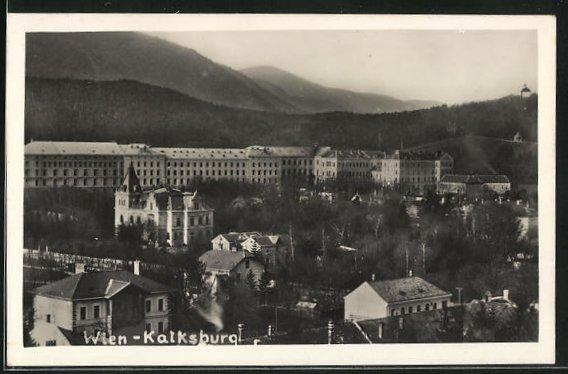 AK Wien-Kalksburg, Ortspartie im Gebirge