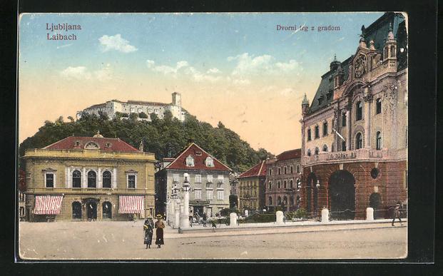 AK Ljubljana / Laibach, Dvorni trg z gradom