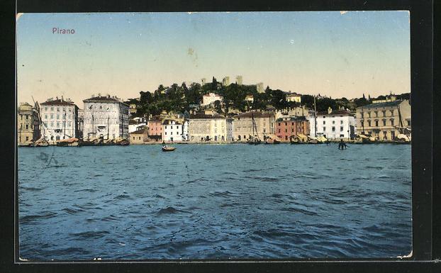 AK Pirano, Ortspartie am Ufer