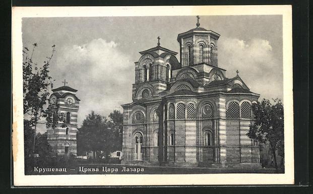 AK Krusevac, Blick zur Kirche