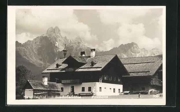 AK Filzmoos, Mandlinghof mit Bischofsmütze
