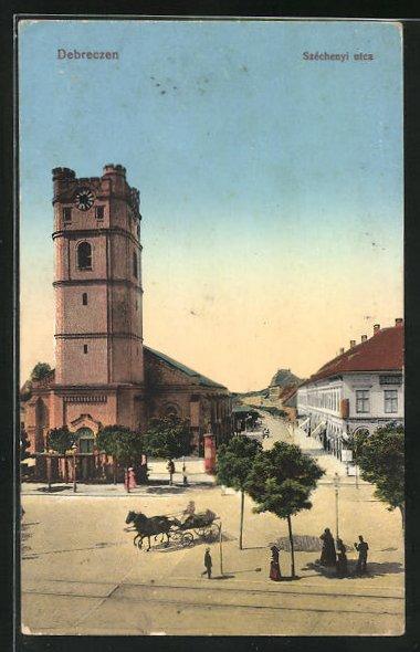 AK Debrecen / Debreczin, Szechenyi utca