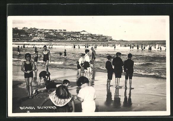 AK Sydney-Bondi, Surfer am Strand