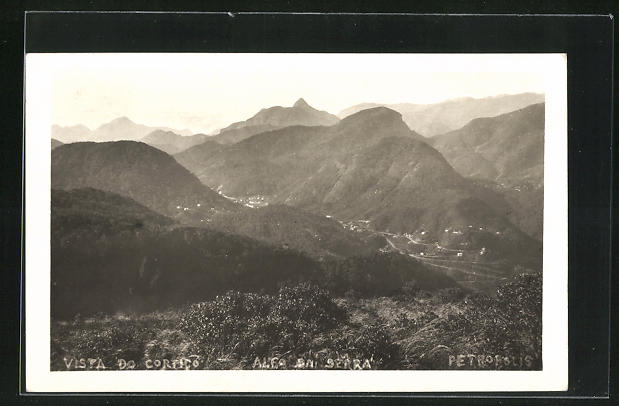 AK Petropolis, vista do Cortico, Panorama mit Gebirge