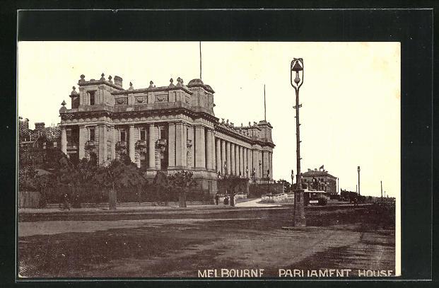AK Melbourne, Blick zum Parliament House