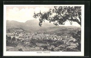 AK Teramo, Panorama vom Berg gesehen