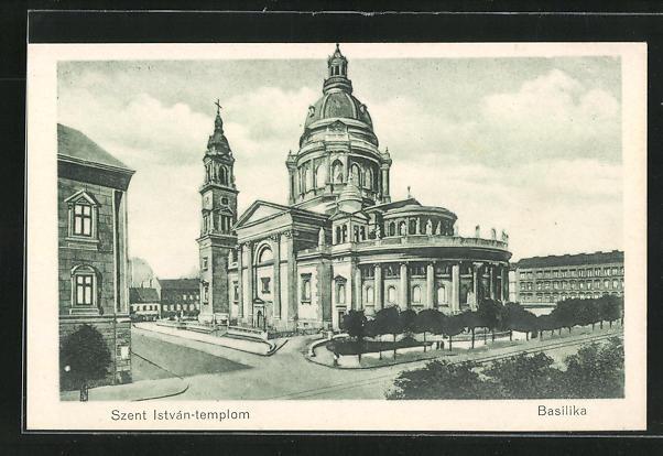 AK Budapest, Szent Istvan-templom, Blick auf die Basilika