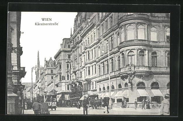 AK Wien, Kärntnerstrasse mit Geschäften