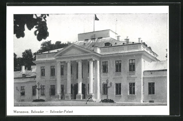 AK Warschau-Warszawa, Belweder-Palast