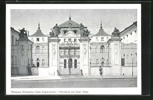 AK Warschau-Warszawa, Ministerswo Spraw Zagranicznych