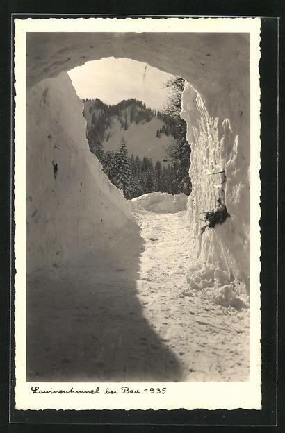 AK Bad, Lawinenhimmel 1935