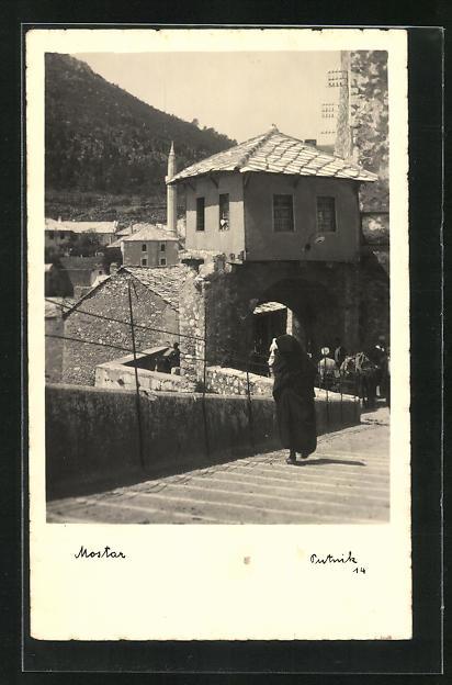 AK Mostar, Ortspartie von der Schräge gesehen
