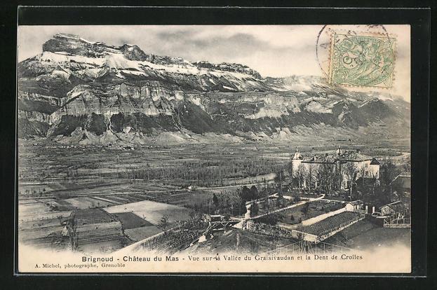 AK Brignoud, Chateau du Mas, Vue sur la Vallee du Graisivaudan et la Dent de Crolles