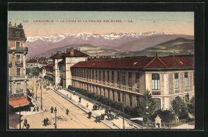AK Grenoble, Le Lycee et la Chaine des Alpes