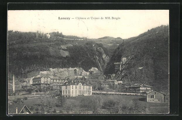 AK Lancey, Chateau et usines de MM. Berges