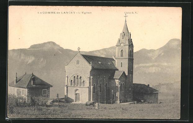 AK La Combe de Lancey, L`Eglise, Kirche
