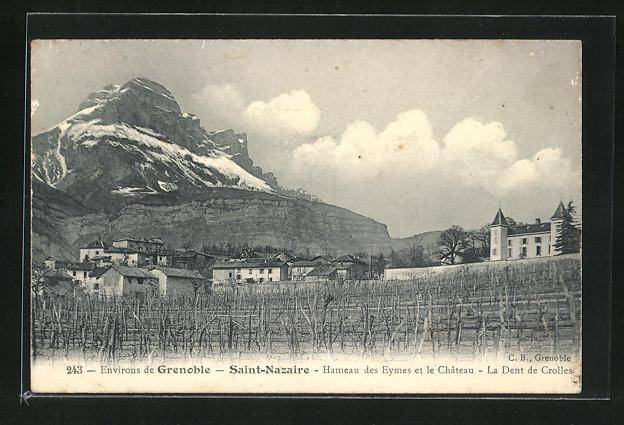 AK Saint-Nazaire, Hameau des Eymes et le Chateau, la Dent de Crolles