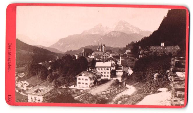 Fotografie Würthle & Spinnhirn, Salzburg, Ansicht Berchtesgaden, Ortsansicht mit Alpen