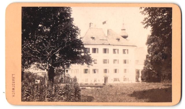 Fotografie Ludwig Hardtmuth, Salzburg, Ansicht Salzburg-Aigen, Schloss Aigen