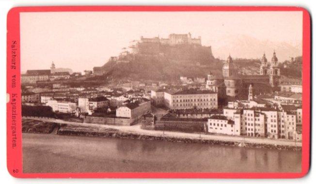 Fotografie Würthle & Spinnhirn, Salzburg, Ansicht Salzburg, Stadt mit Festung Hohensalzburg