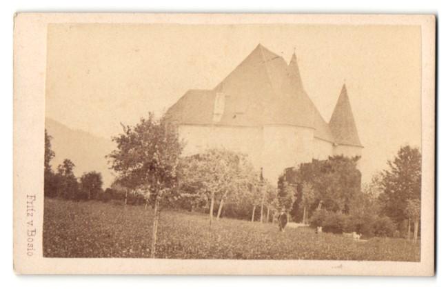 Fotografie Fritz von Bosio, Judenburg, Ansicht Kobenz, Schloss Hautzenbichl