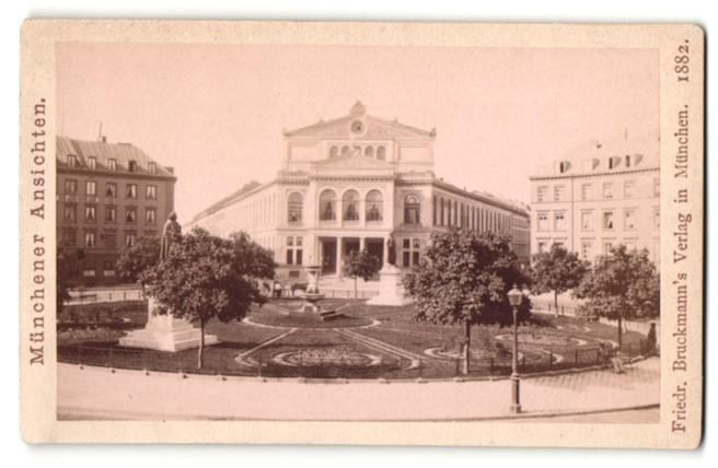 Fotografie Friedrich Bruckmann, München, Ansicht München, Volkstheater am Gärtnerplatz