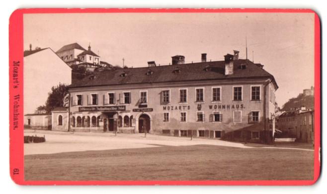 Fotografie Würthle & Spinnhirn, Salzburg, Ansicht Salzburg, Wohnhaus von Wolfgang Amadeus Mozart