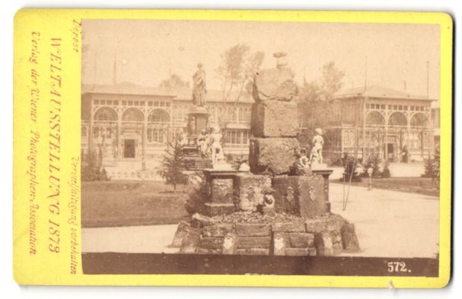 Fotografie Photographen-Association, Wien, Ansicht Wien, Weltausstellung 1873, Denkmal-Kunstwerk