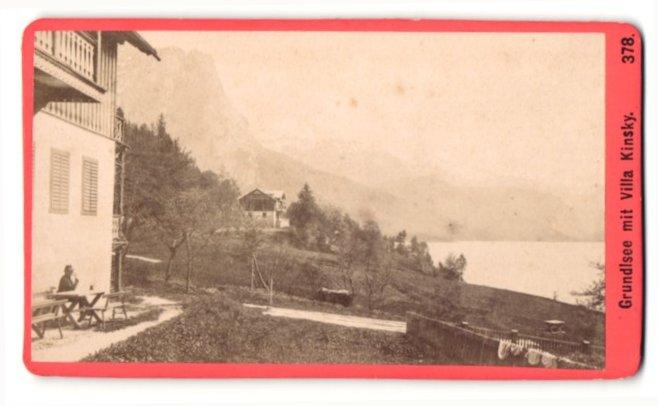 Fotografie Baldi & Würthle, Salzburg, Ansicht Grundlsee, Villa Kinsky