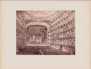 Fotografie Fotograf unbekannt, Ansicht Neapel - Napoli, Interno del Teatro di S. Carlo, Grossformat 25 x 19cm
