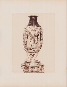 Fotografie Fotograf unbekannt, Ansicht Neapel - Napoli, Museo di Napoli, Urna cerenaria di vetro azzuri Pompei