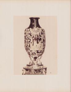 Fotografie Fotograf unbekannt, Ansicht Neapel - Napoli, Museo di Napoli, Urna Cerenaria vetro azzuro Pompei, Urne