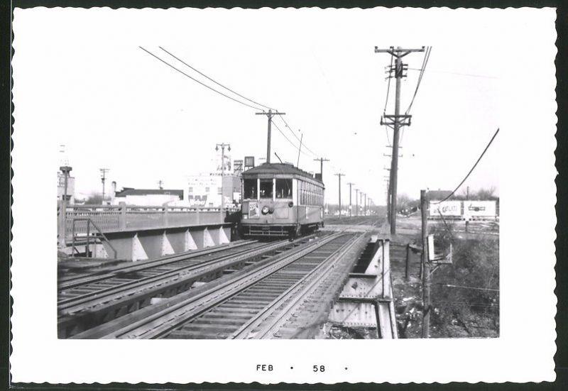 Fotografie Richard W. Tesch, Chicago, Ansicht Milwaukee, Strassenbahn Triebwagen Nr. 985