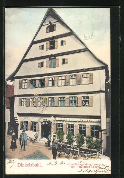 AK Dinkelsbühl, Gasthof goldne Kanne von H. Lang