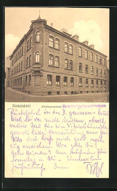 AK Dinkelsbühl, Ansicht vom Schülerpensionat