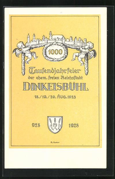 AK Dinkelsbühl, Tausendjahrfeier der ehem. freien Reichstadt 1928