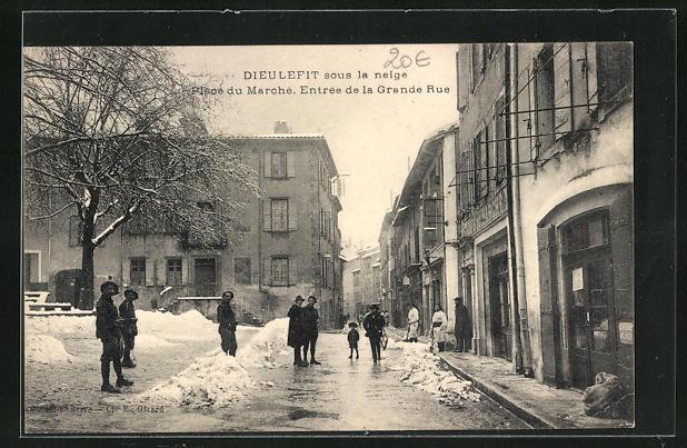AK Dieulefit, Pisce du Marché, Entrée de la Grande Rue, Winterpartie