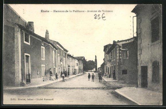 AK Étoile, Hameau de la Paillasse, Avenue de Valence, Strassenpartie