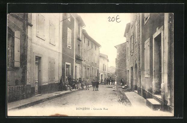 AK Donzère, Grande Rue, Ortspartie