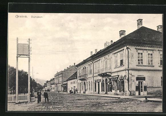 AK Orsova, Dunasor, Strassenpartie