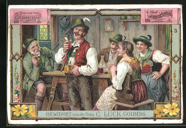 Lithographie Colberg, gewidmet von der Firma C. Lück, Gesundheits Kräuterhonig, Dr. Fernest`sche Lebensessenz